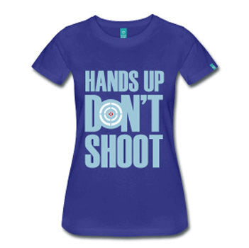 Hands Up Don't Shoot Women's Fitted T-Shirt - Royal Blue