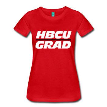 HBCU Grad Women's Fitted T-Shirt - Red - Akili Kabibe Apparel