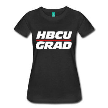 HBCU Grad Women's Fitted T-Shirt - Black - Akili Kabibe Apparel