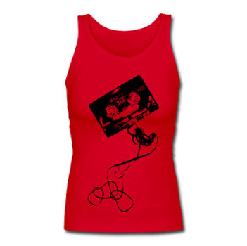 Unwound Cassette Tape Hip Hop Women's Premium Tank Top - Red - Akili Kabibe Apparel