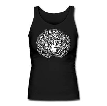 Love My Afro Word Cloud Natural Hair Women's Premium Tank Top - Black