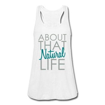 About that Natural Life Natural Hair Women's Flowy Tank Top - Akili Kabibe Apparel