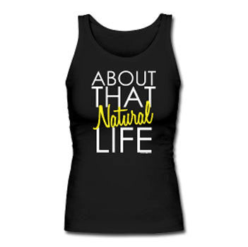 About that Natural Life Women's Premium Tank Top - Black - Akili Kabibe Apparel