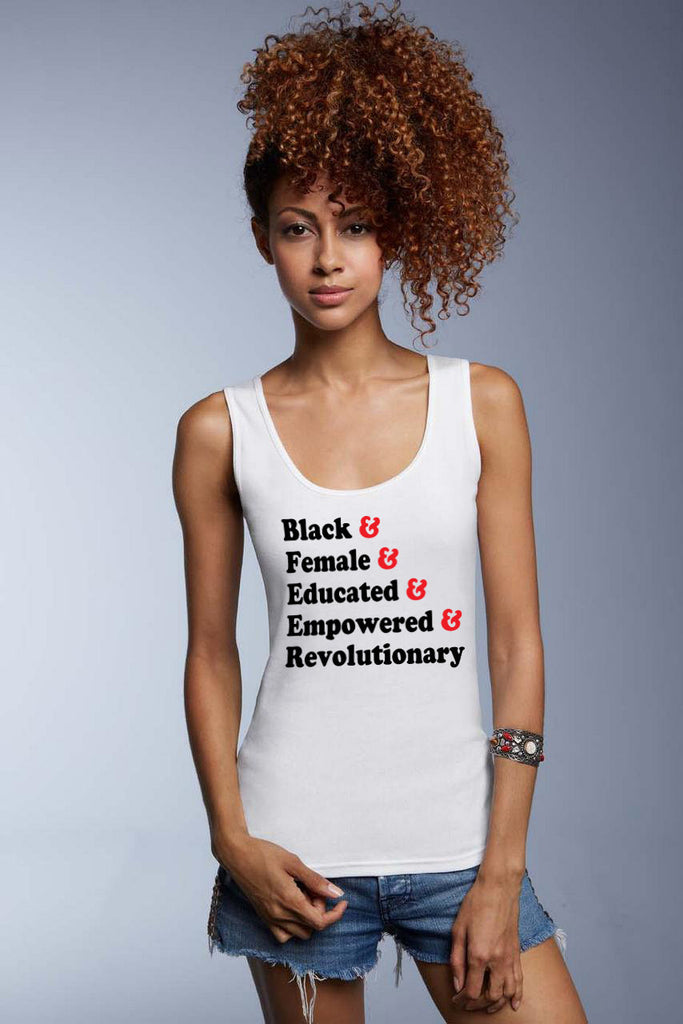 Traits of the Modern Black Woman Women's Premium Tank Top - White