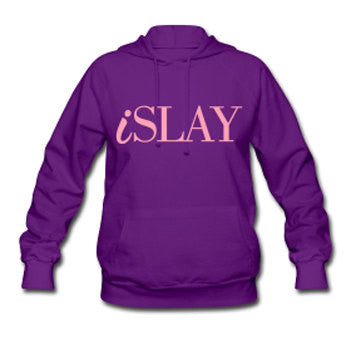iSlay Women's Hooded Sweatshirt - Purple