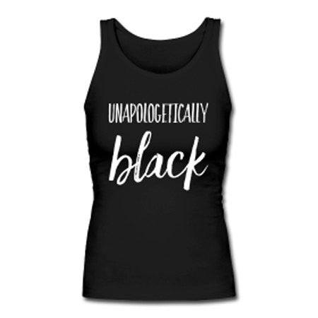 Unapologetically Black Women's Premium Tank Top - Black - Akili Kabibe Apparel