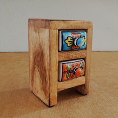 Multi Colour 2 Drawer Box - Mini