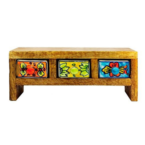 Multi Colour 3 Drawer Box - Mini
