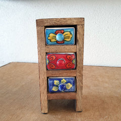 Multi Colour 3 Drawer Box - Mini Tall - The Chic Nest
