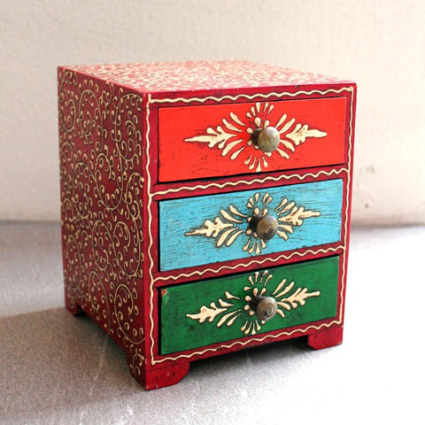 Hand Painted 3 Drawer Box - The Chic Nest