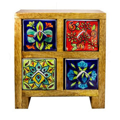 Multi Colour 4 Drawer Box