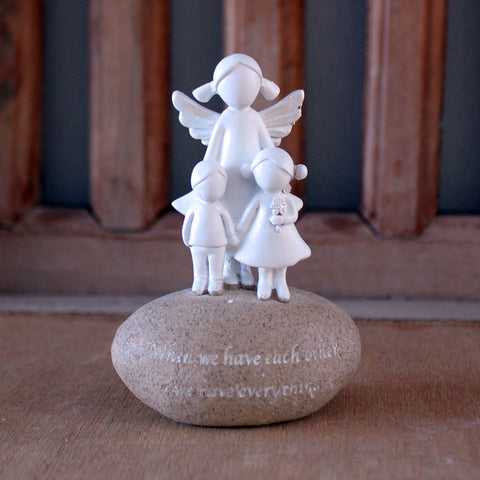 Angel Mum & Children Figurine - The Chic Nest