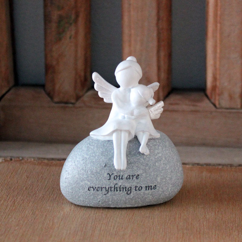 Angel Everything to Me Rock Figurine - The Chic Nest