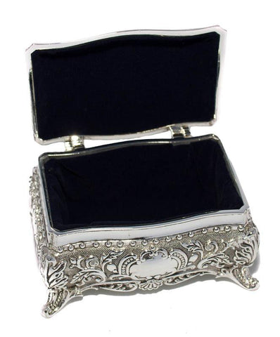 Antique Silver Jewellery Box - The Chic Nest