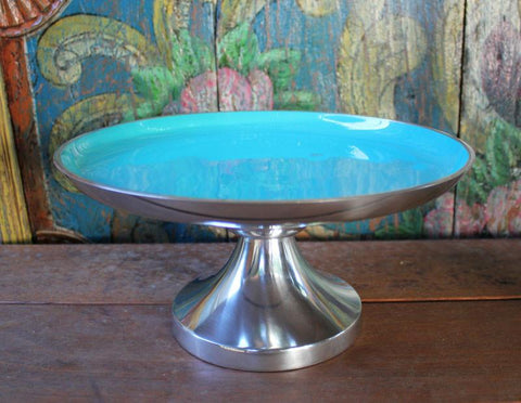 Aqua Cake Stand - The Chic Nest