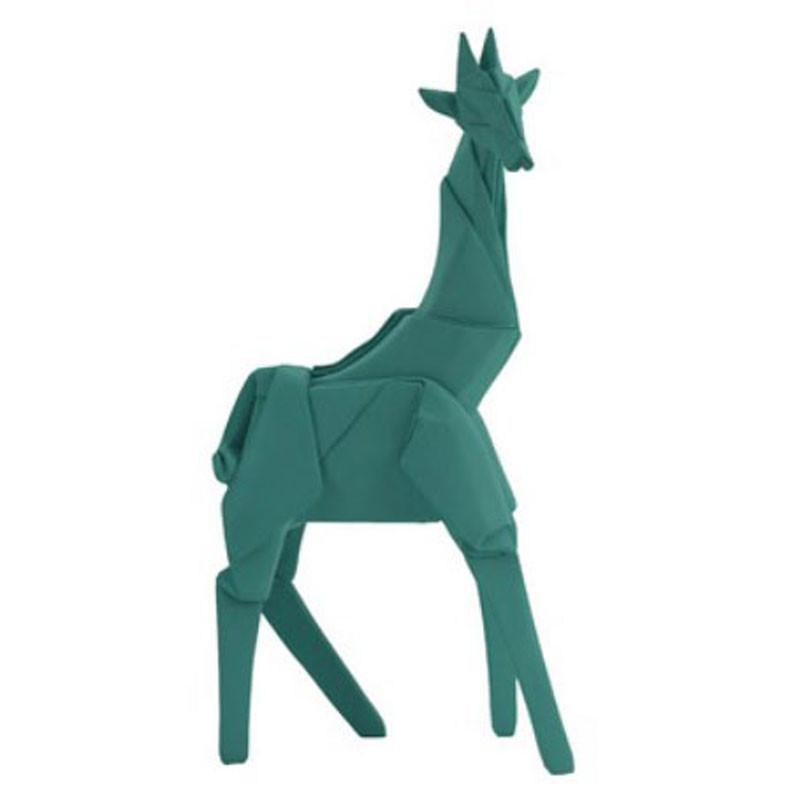 Aqua Origami Giraffe - The Chic Nest
