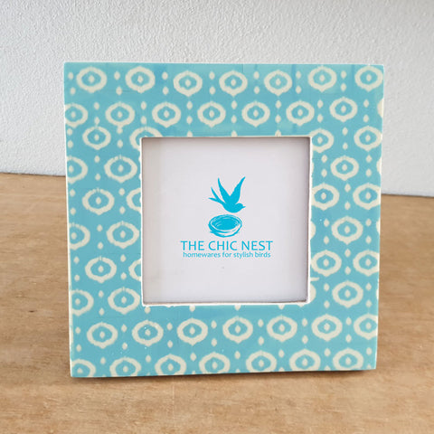 Aqua Bone Photo Frame Square - The Chic Nest