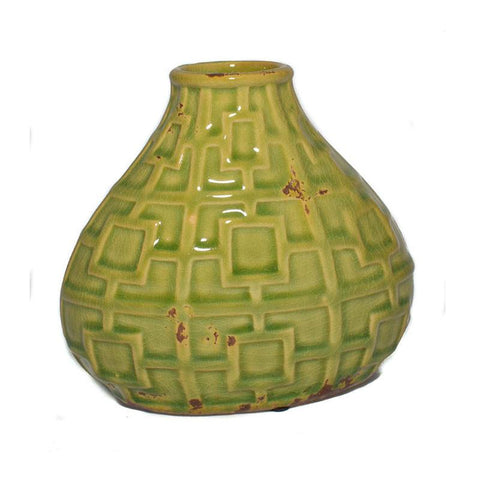Green Art Deco Vase - The Chic Nest