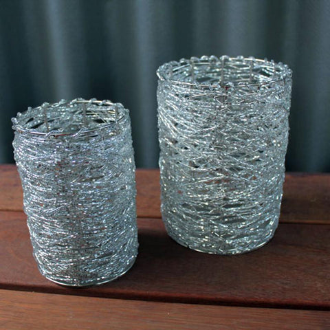 Hand Beaded Candle Holder - The Chic Nest