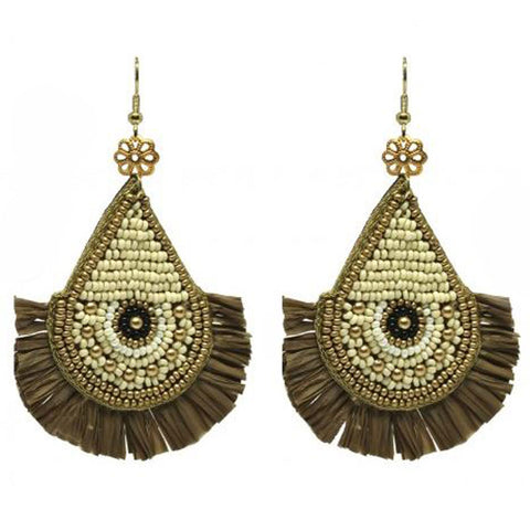 Hand Beaded Fringe Earrings - The Chic Nest