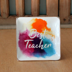 Best Teacher Trinket Dish - The Chic Nest
