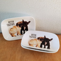 Better Together Pug & French Bulldog Trinket Dish - The Chic Nest
