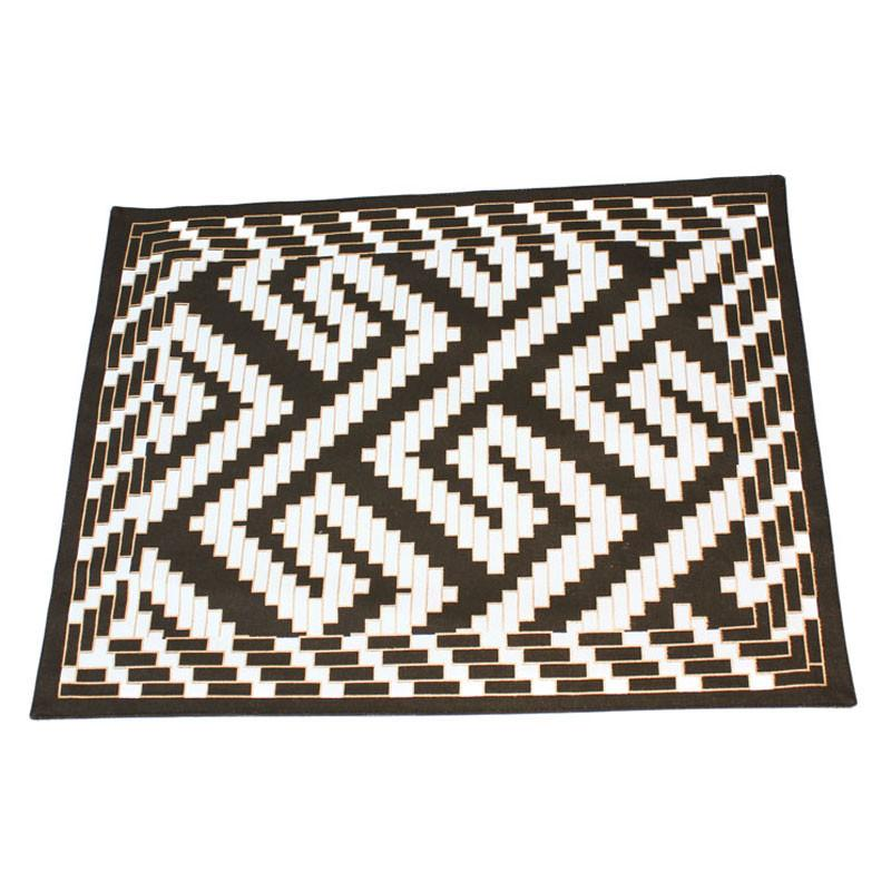 Black & White Canvas Placemat - The Chic Nest