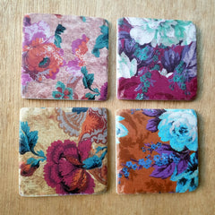 Blossom Set of 4 Floral Coasters - The Chic Nest