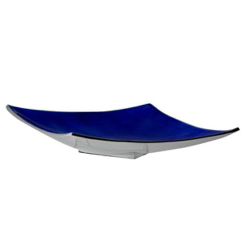 Blue Angular Platter - The Chic Nest