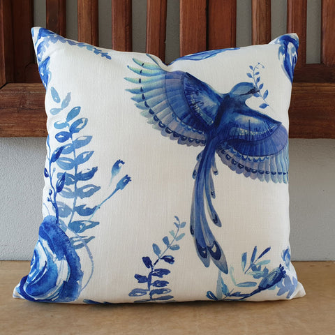 Blue Bird Cushion - The Chic Nest