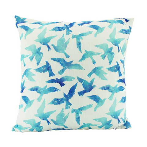 Blue Birds Cushion 45 x 45cm