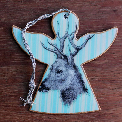 Blue Deer Angel Ornament - The Chic Nest