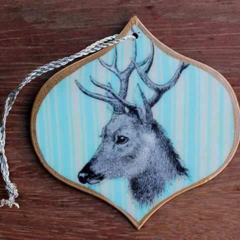 Blue Deer Bauble Ornament - The Chic Nest