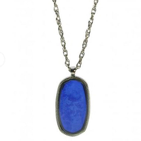Blue Pendant Necklace - The Chic Nest