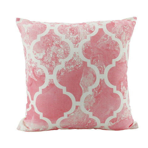 Blush Pink Patterned Cushion