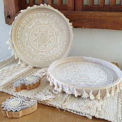 Natural Woven Table Runner - Handcrafted