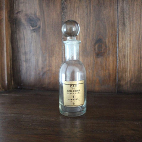 Eau De Cologne Bottle With Bolt Stopper - The Chic Nest