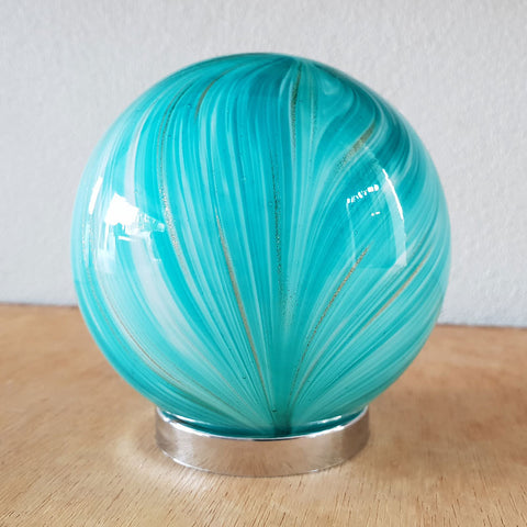 Friendship Ball Bright Aqua Gold Shimmer - The Chic Nest