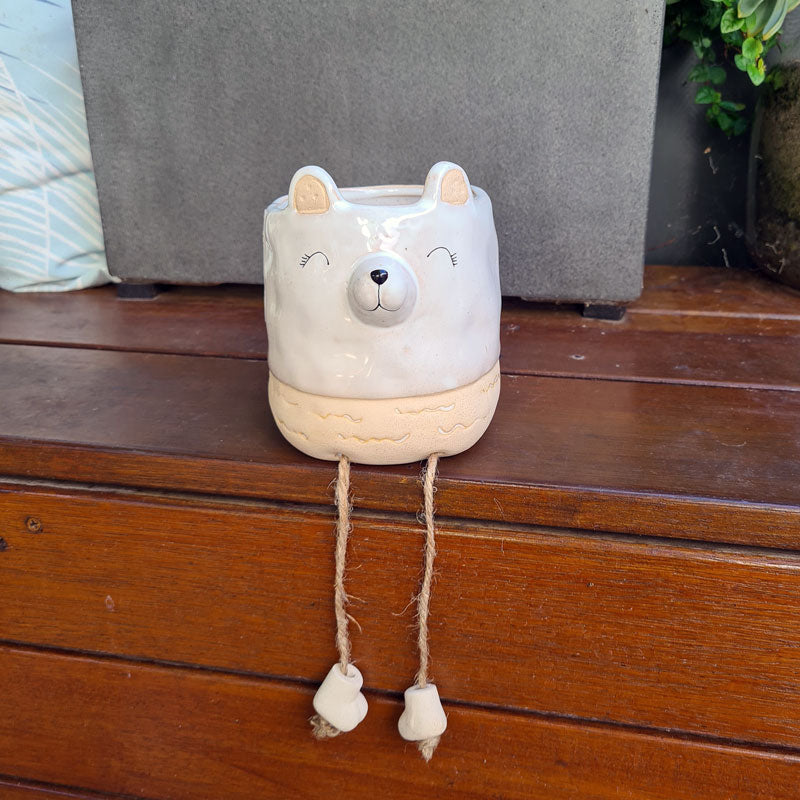 Betsy Bear Planter With Hanging Legs