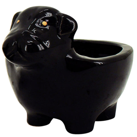 Bulldog Planter - Black - The Chic Nest