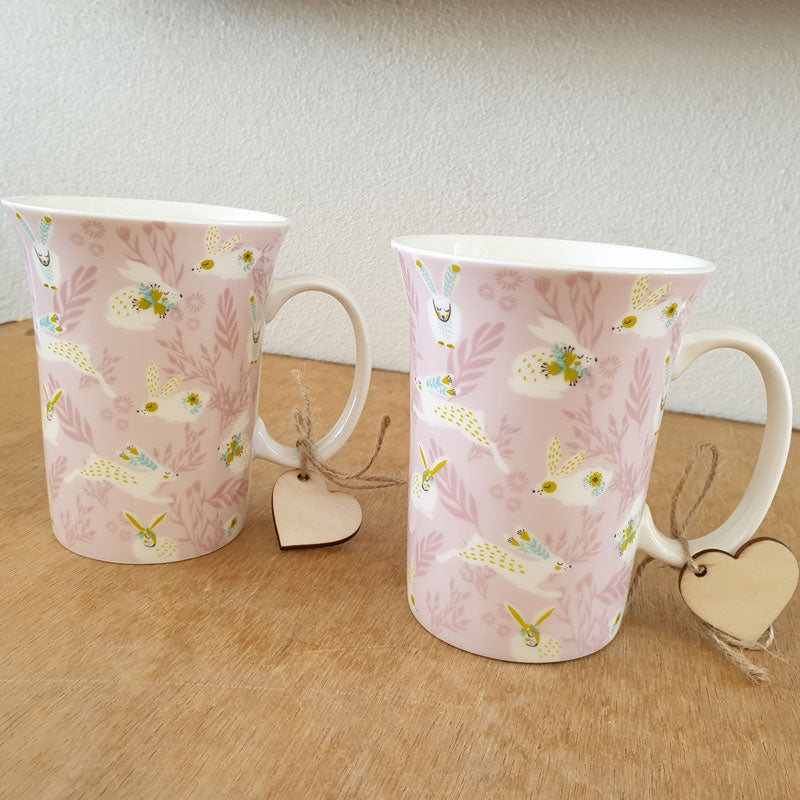 Bunny Gift Boxed Mug - Pink - The Chic Nest