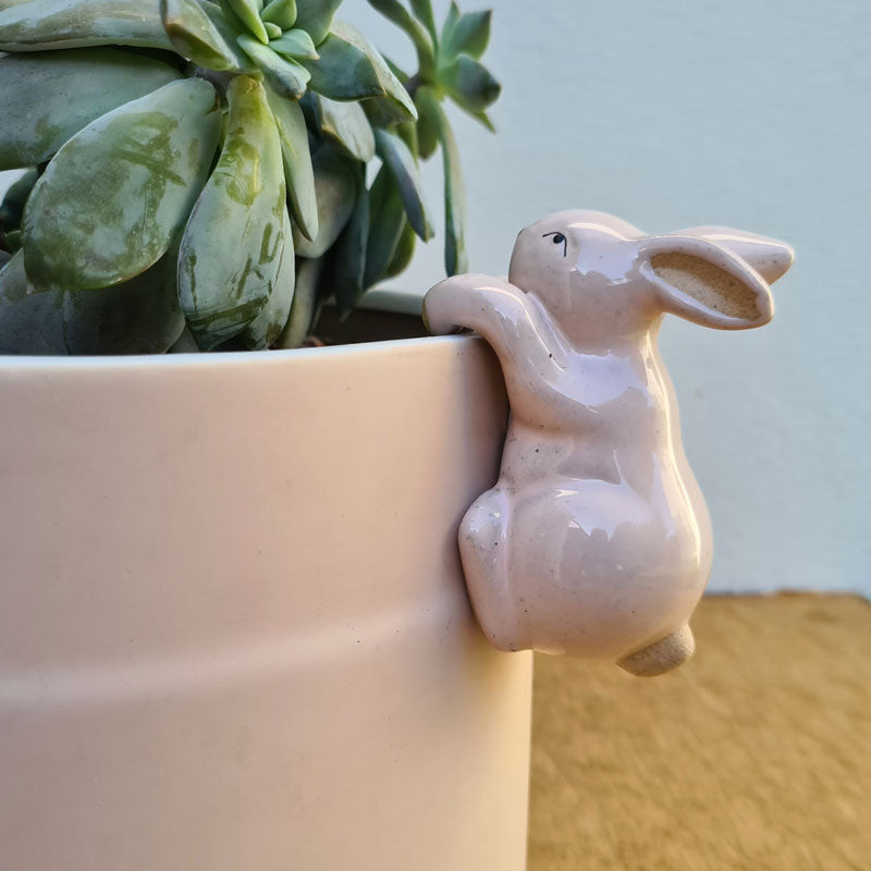 Bunny Pot Hanger - Pink or Grey