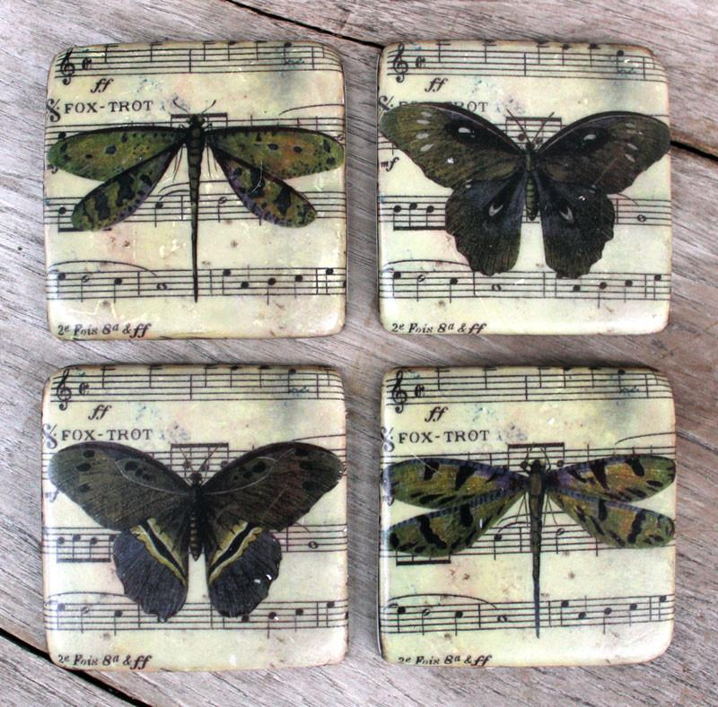 Butterfly Coasters Set of 4