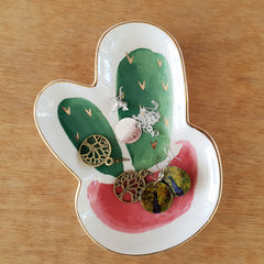 Cactus In Pot Trinket Dish - The Chic Nest