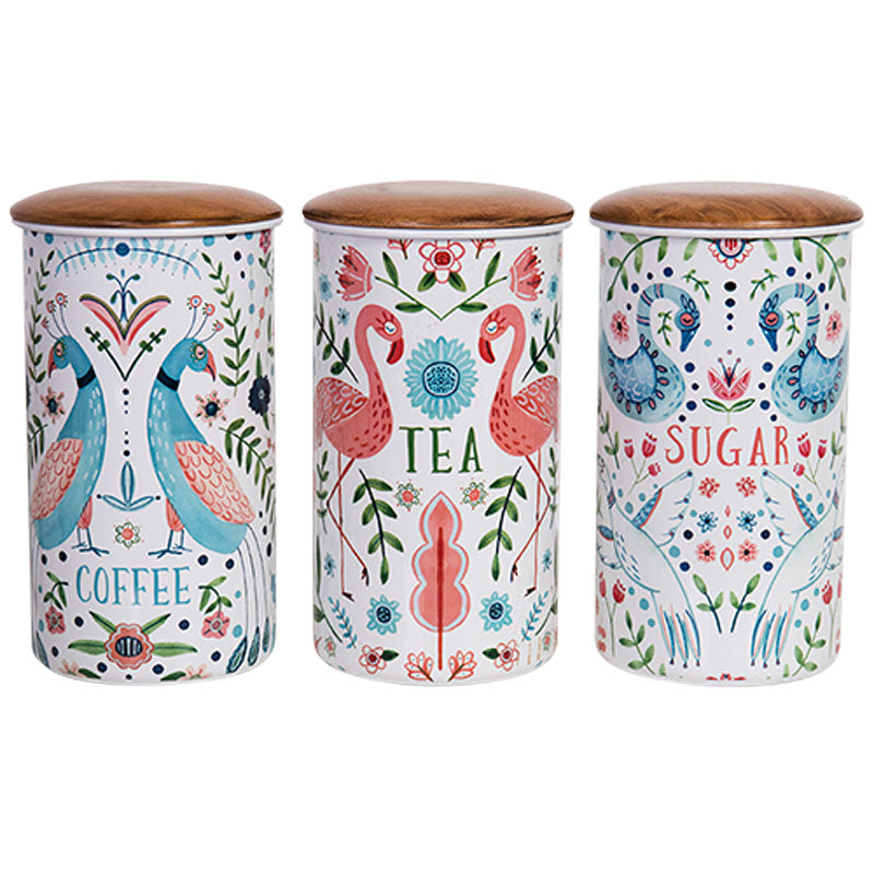 Coffee, Tea & Sugar Canister Tall - Set of 3