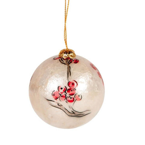 Capiz Shell Bauble 6cm - The Chic Nest