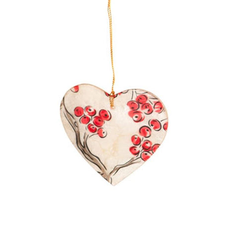 Capiz Shell Heart Ornament - The Chic Nest