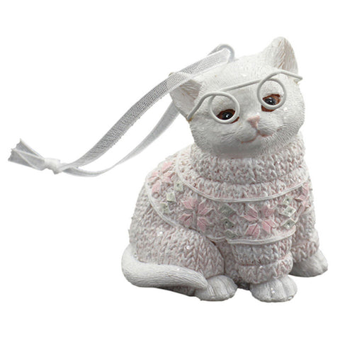 Kitty Meow Hanging Christmas Ornament - Pink - The Chic Nest