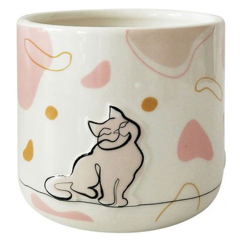 Cat Linear Drawing Ceramic Planter Pot - The Chic Nest