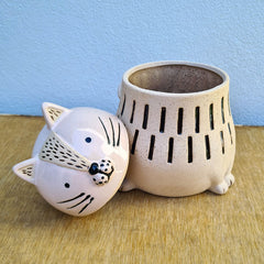 Celeste Cat Ceramic Canister